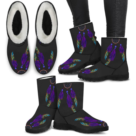 Image of Purple Feather Dreamcatcher Boots