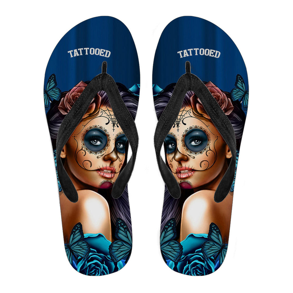 Tattooed Girl Flip Flops