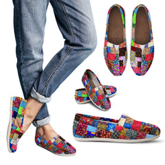 Colorful Patch Quilt Casual Shoe