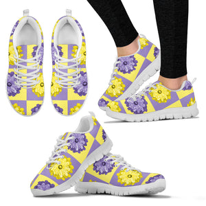 Yellow Flower Quilt Sneakers