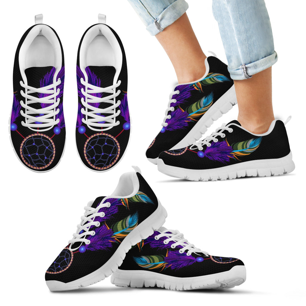 Kid's Black Dreamcatcher Sneaker