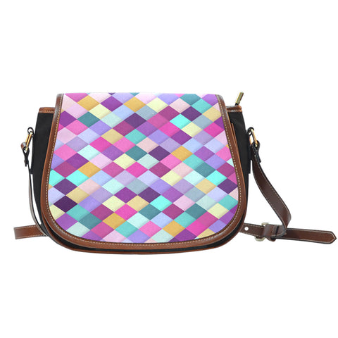 Image of Quilter's Canvas/Leather Saddle Bag