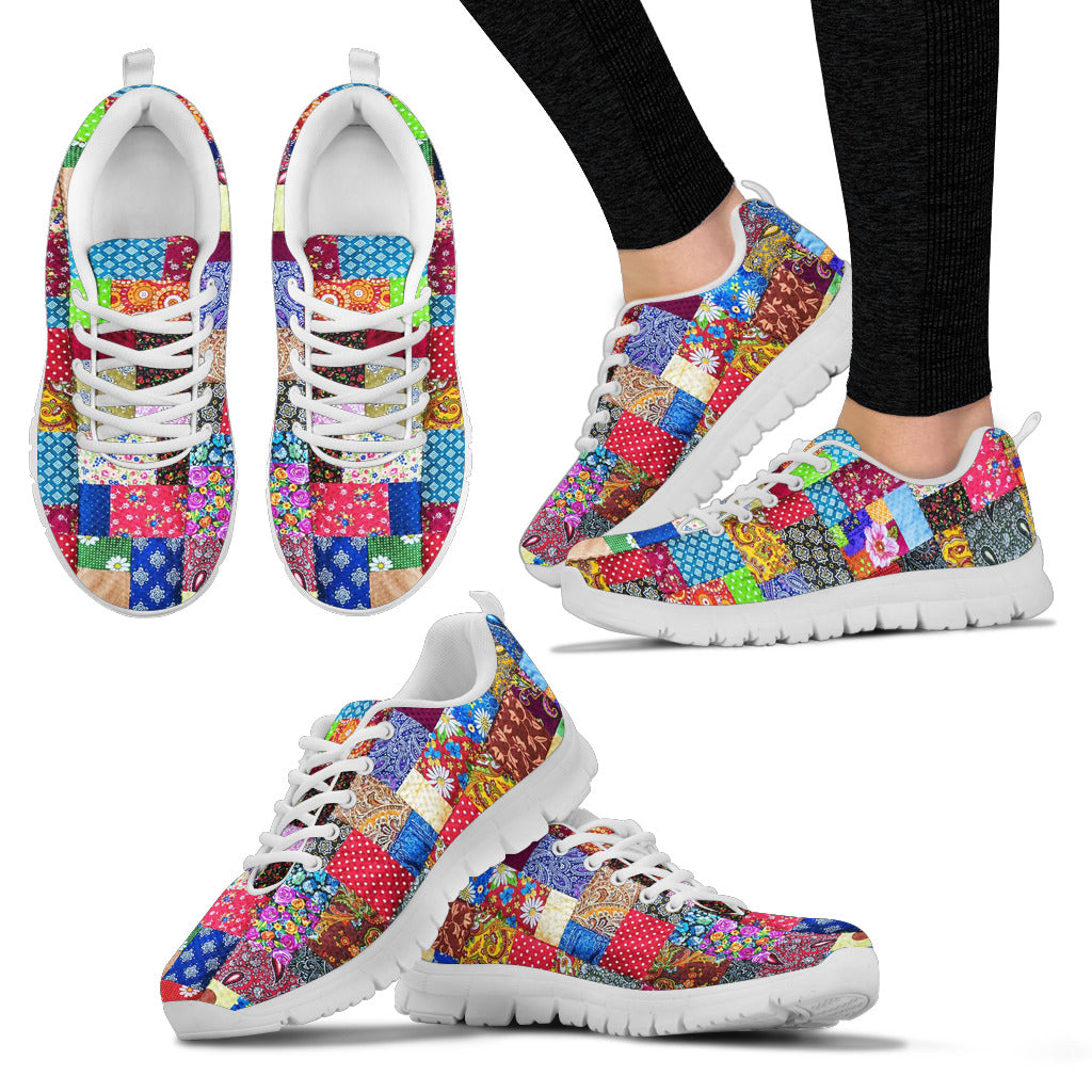 Colorful Patch Quilt Sneaker