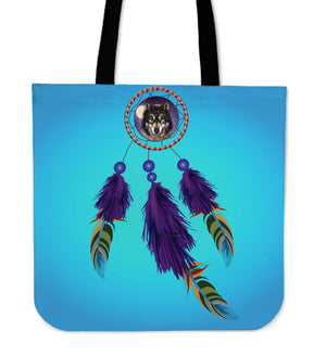 Wolf Dreamcatcher Tote Bag