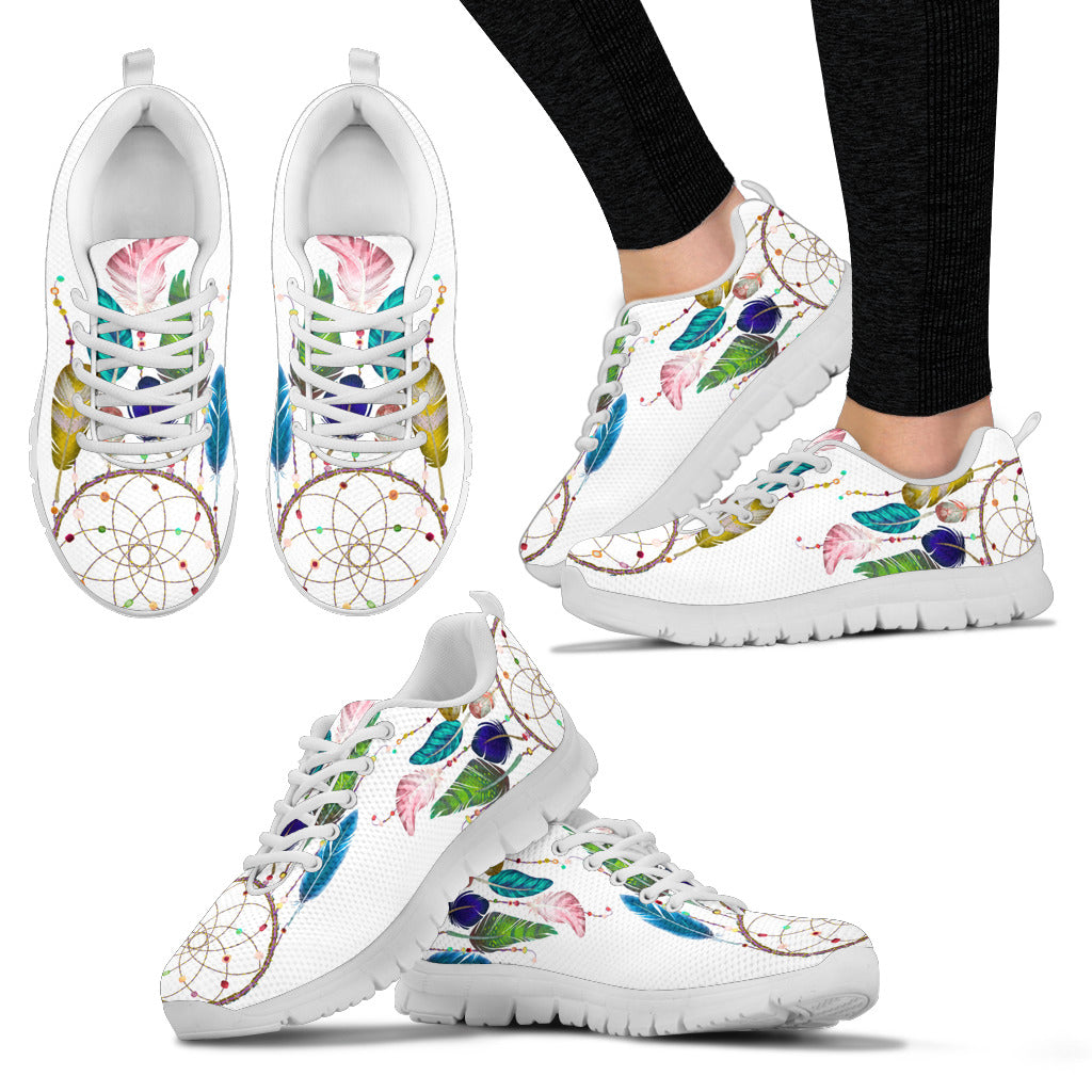 Watercolor Feather Dreamcatcher Sneaker