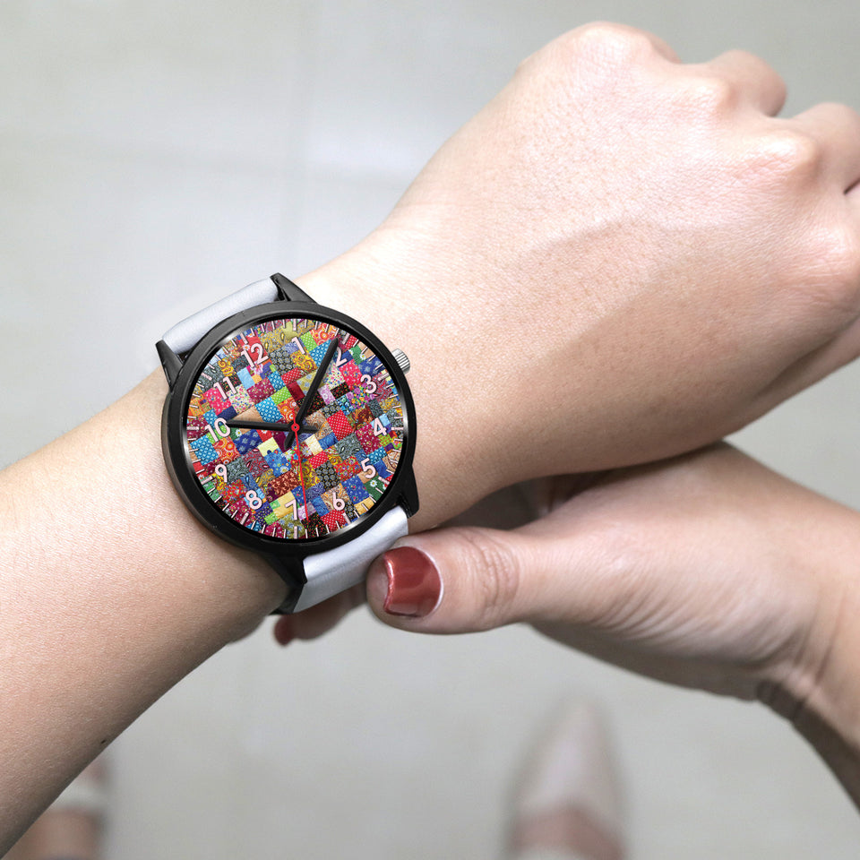 Colorful Patch Quilt Watch