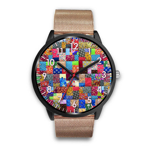 Image of Colorful Patch Quilt Watch