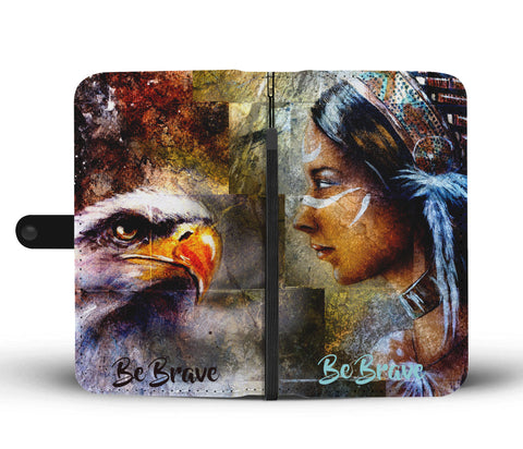 Image of Be Brave Native American Phone Wallet