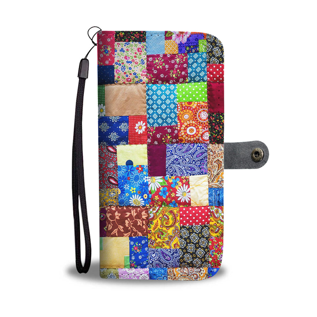 Colorful Quilt Phone Wallet