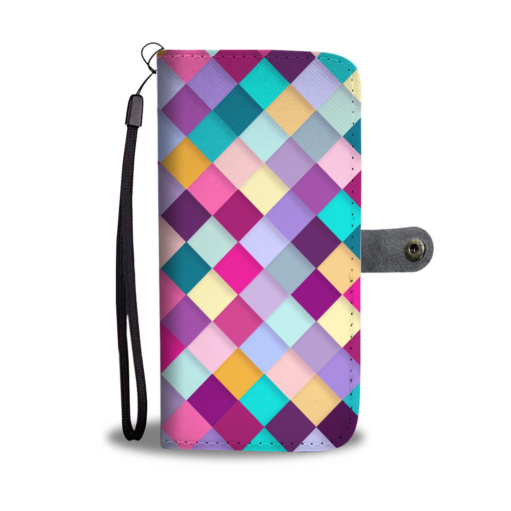 Pink Diamond Quilt Phone Wallet