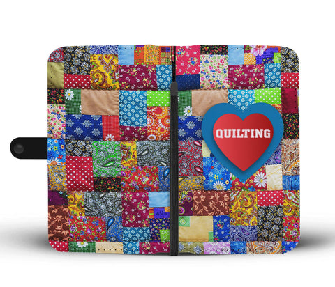 Image of Love Quilting Colorful Quilt Phone Wallet