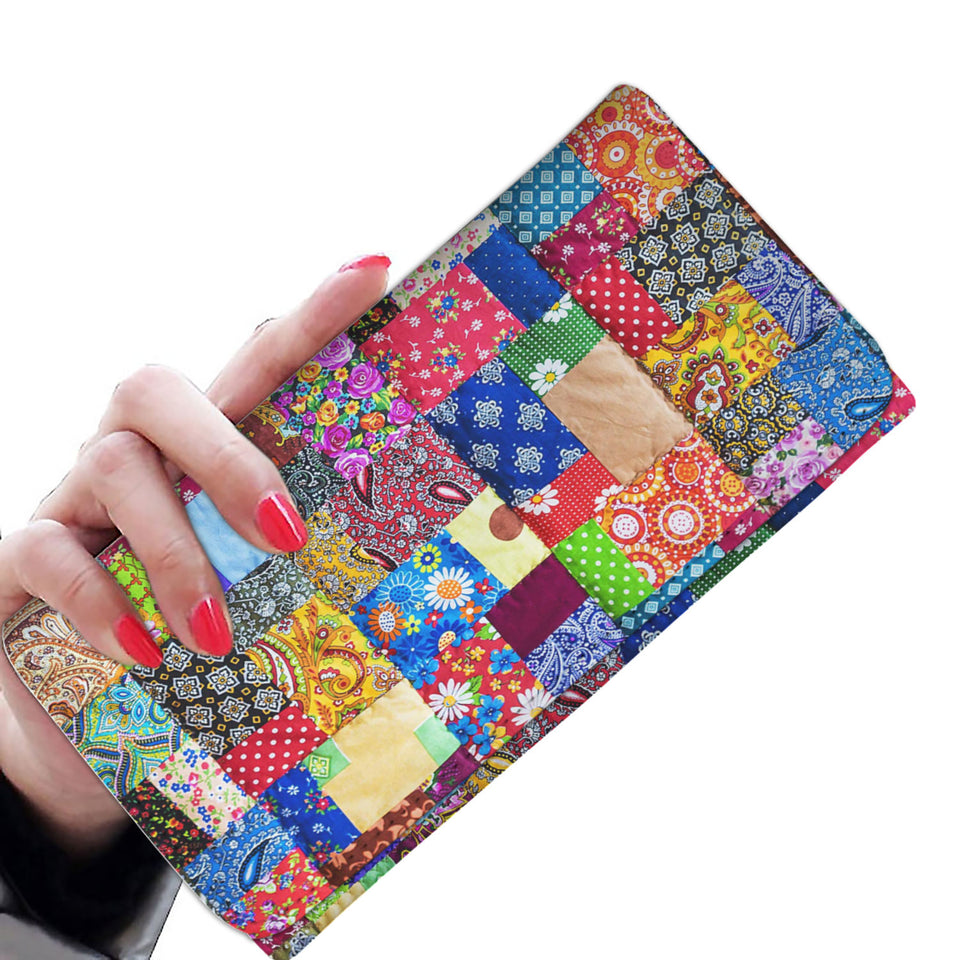 Colorful Quilt Wallet