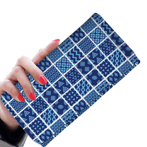 Image of Blue Quilt Wallet