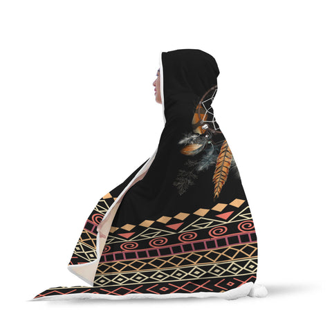 Image of Tribal Dream Dreamcatcher Hooded Blanket