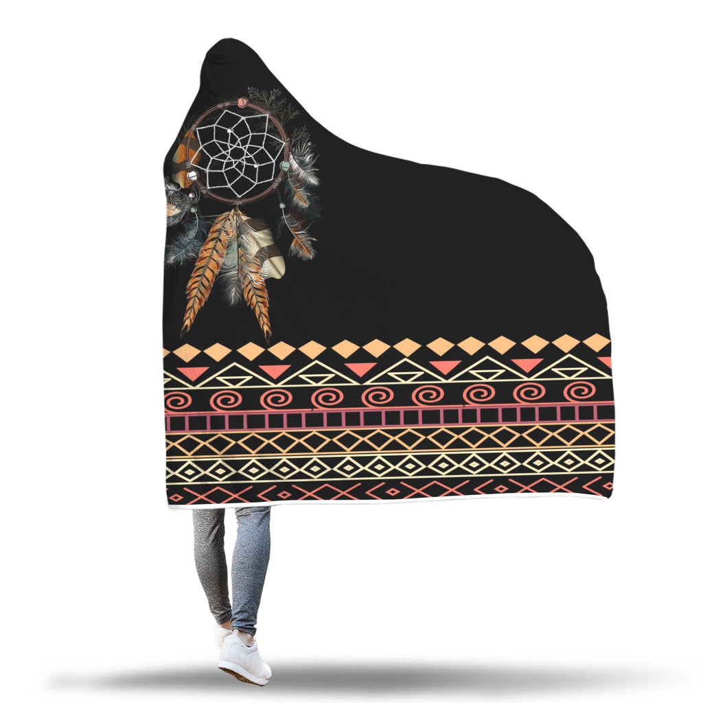 Tribal Dream Dreamcatcher Hooded Blanket