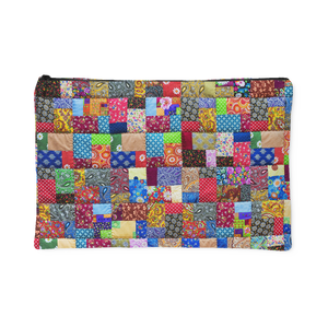 Colorful Patch Quilt Accessory Pouch