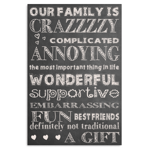 Image of Crazy Family Canvas