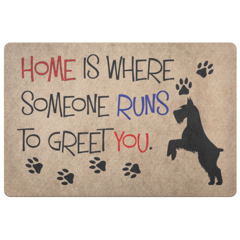 Image of Home Is Where Someone Runs to Meet You Doormat