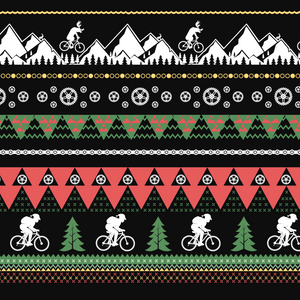 Women's Ugly Mountain Biking Christmas Sweater