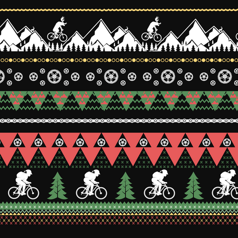 Image of Men's Ugly Mountain Biking Christmas Sweater