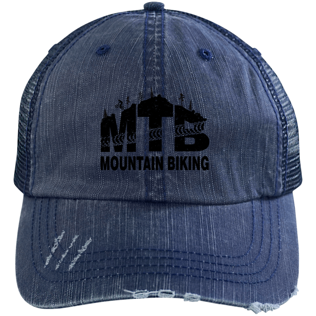 Distressed MTB Mountain Biking Hat - 5 colors