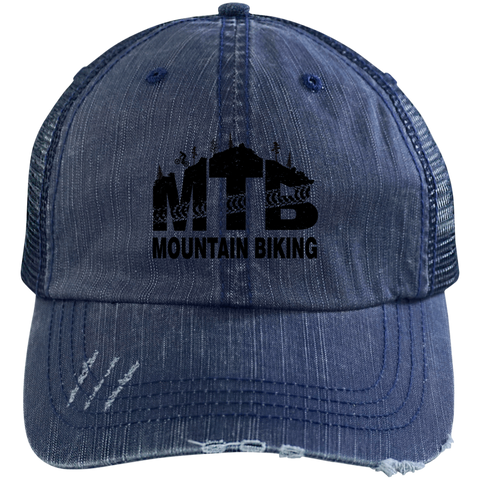 Image of Distressed MTB Mountain Biking Hat - 5 colors
