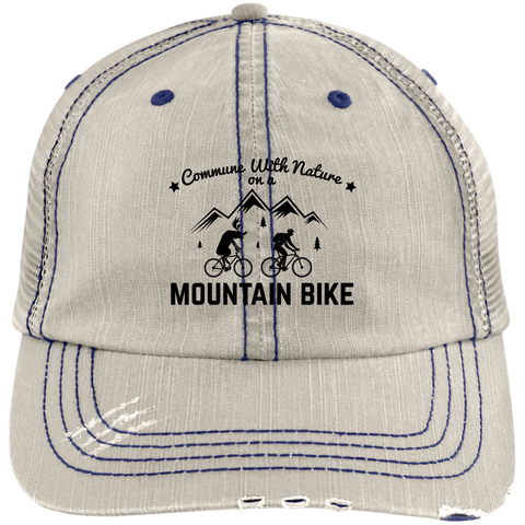 Image of Distressed Commune with Nature Mountain Biking Cap - 7 colors