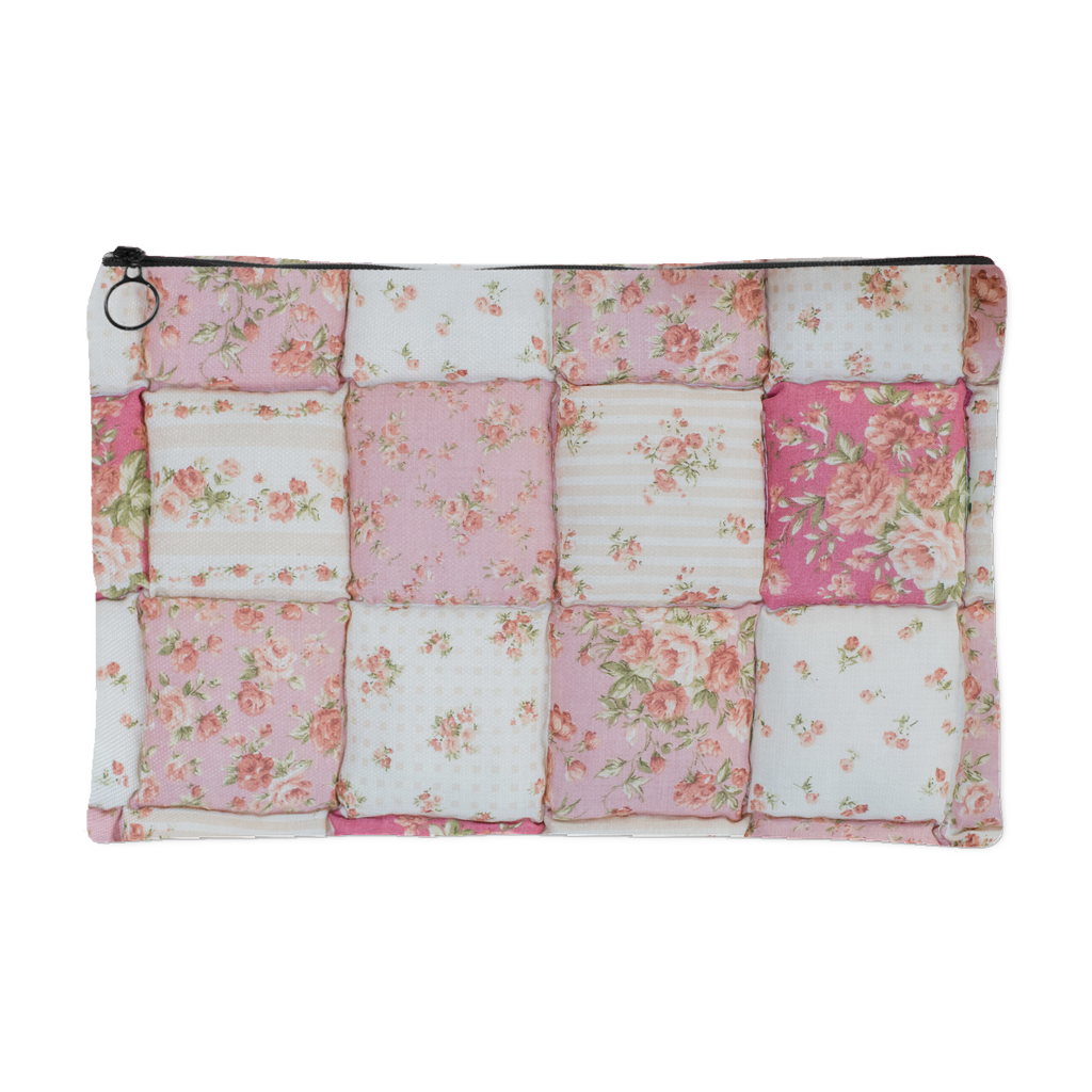 Pink Puffy Quilt Accessory Pouch