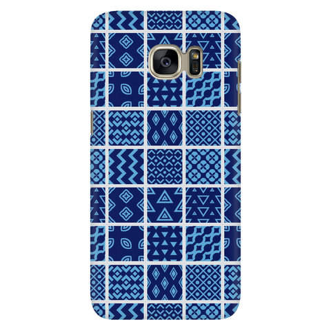 Blue Quilt Samsung Galaxy S7 Case