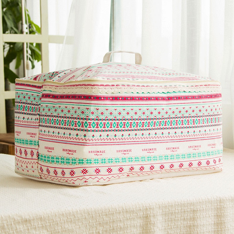 Cotton Folding Quilt Storage Bag