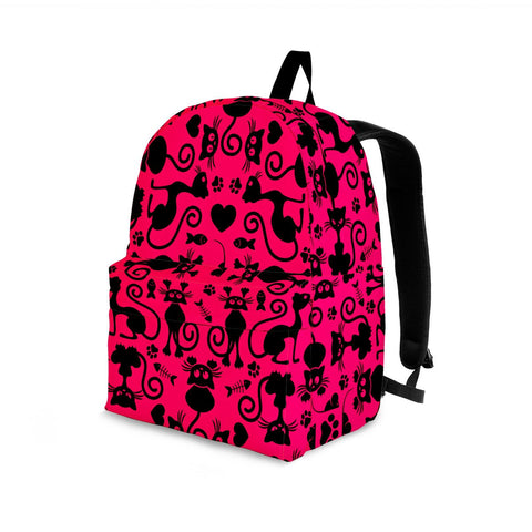 Image of Cats Pink Backpack