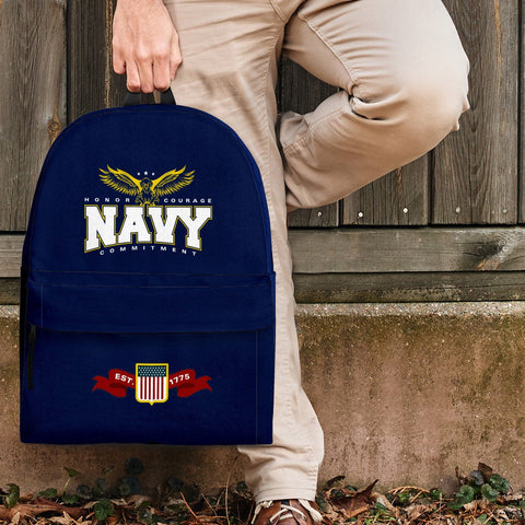 Image of Navy Backpack