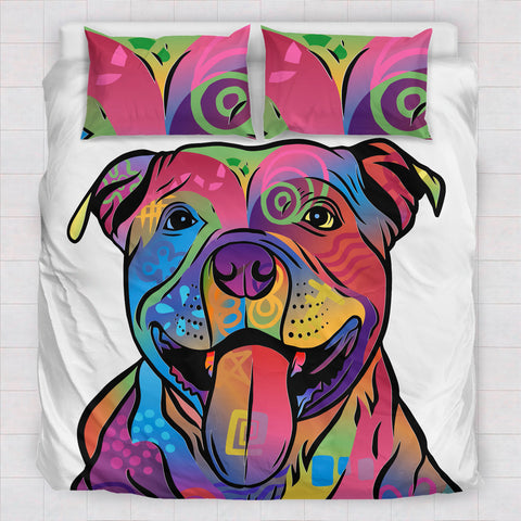 Image of Pitbull Duvet Cover and Pillowcases
