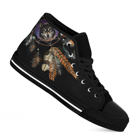 Image of Dreamcatcher Wolf High-Top Sneakers