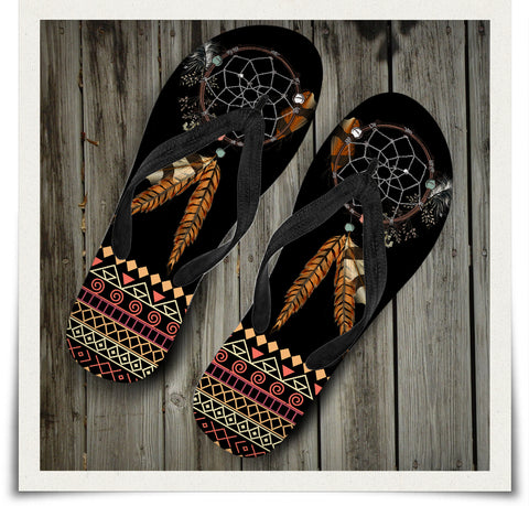 Tribal Dream Dreamcatcher Flip Flop
