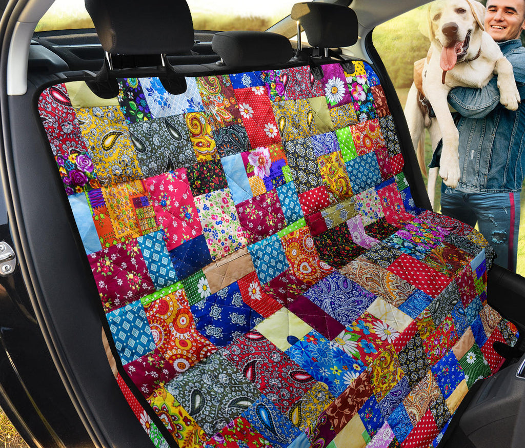 Colorful Quilt Car Seat Cover