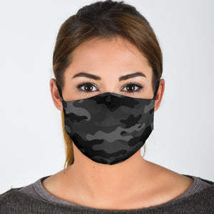 Black Camo Face Mask