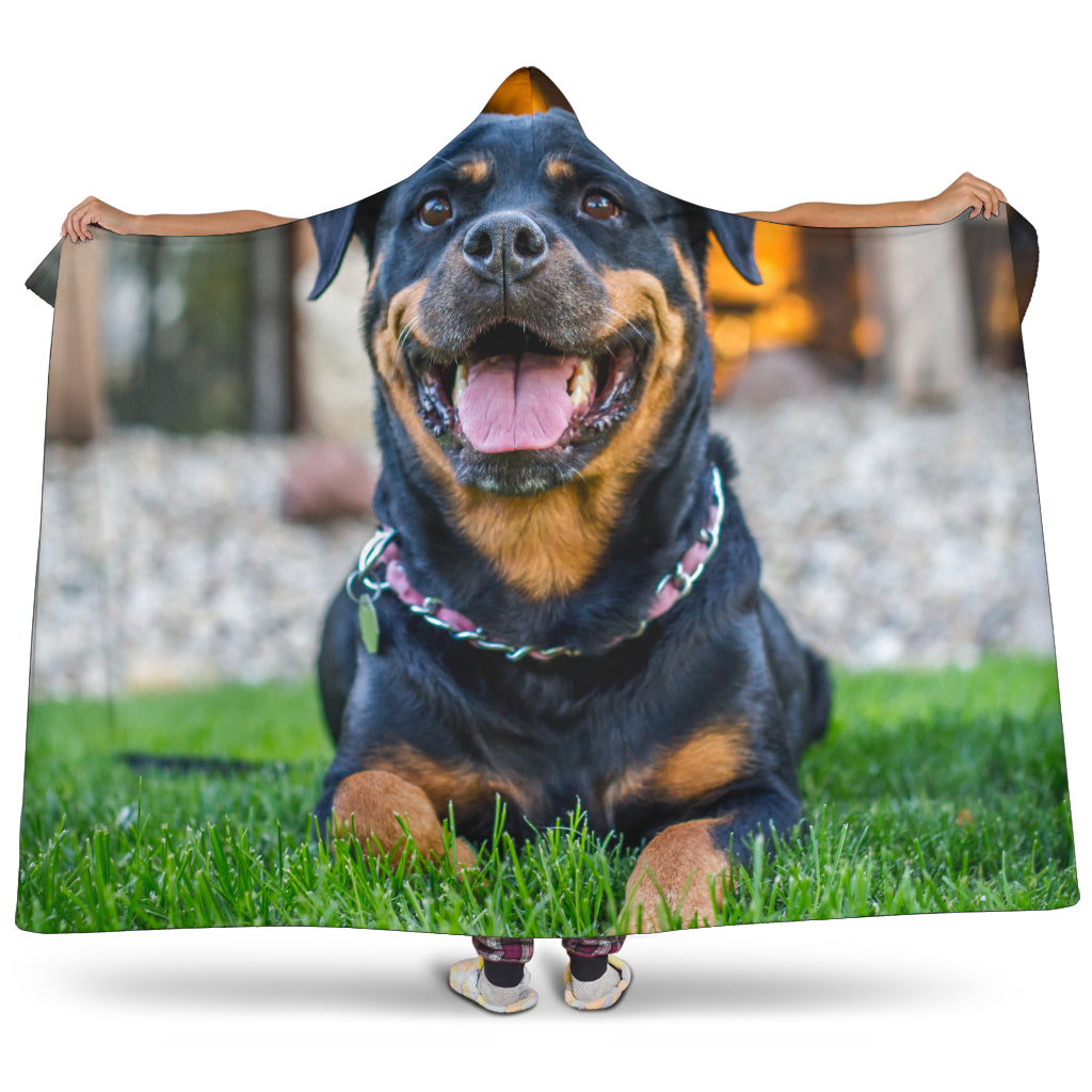 Rottweiler Hooded Blanket