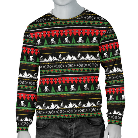 Men's Ugly Mountain Biking Christmas Sweater