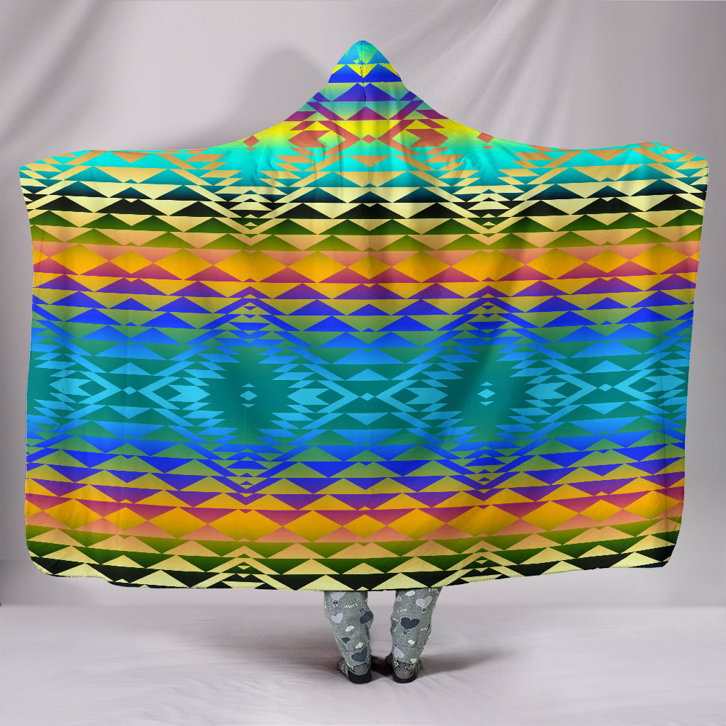Taos Frost Hooded Blanket