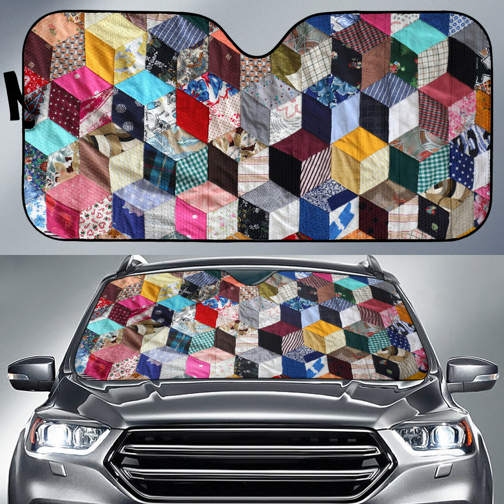 3D Squares Auto Sun Shade