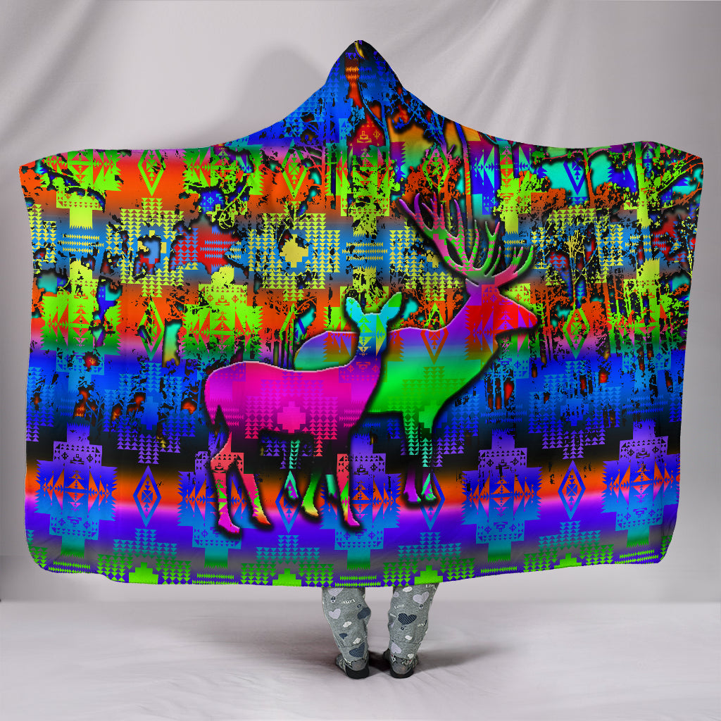 Deer Council Hooded Blanket