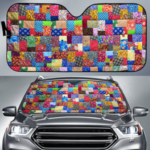 Colorful Quilt Car Shade