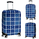 Blue Quilt Luggage Cover