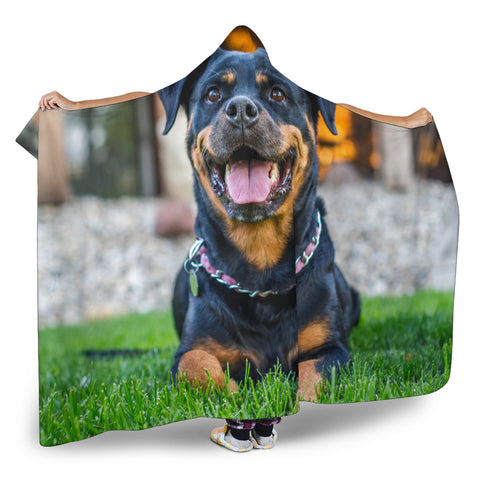 Image of Rottweiler Hooded Blanket