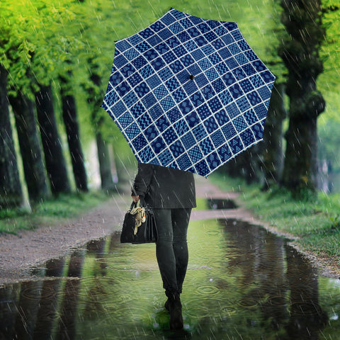 Image of Blue Diamond Quilt Umbrella