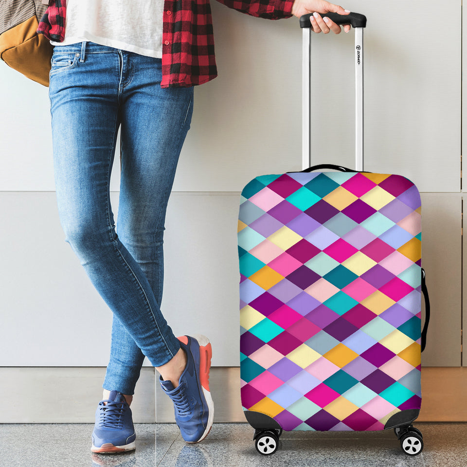Pink Diamonds Luggage Cover