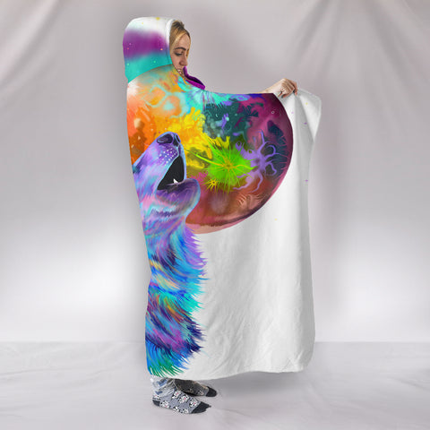 Image of Howling Wolf Hooded Blanket