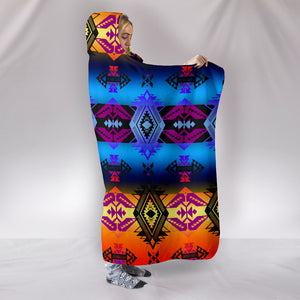 Sovereign Nation Sunset Hooded Blanket