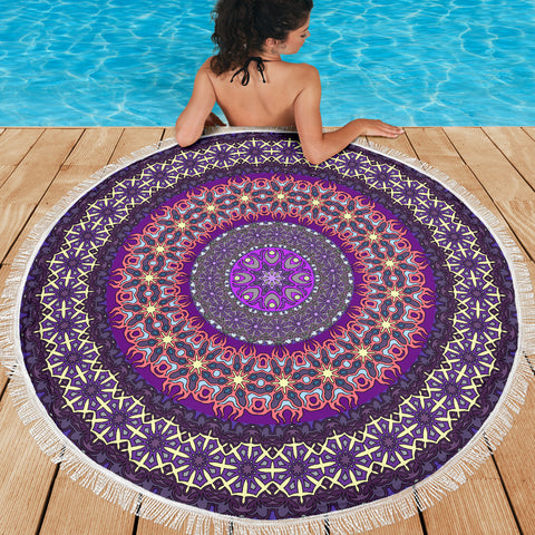 Purple Rain Mandala Beach-Picnic Blanket